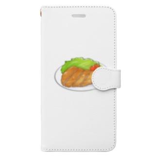 豚肉大好き Book-style smartphone case