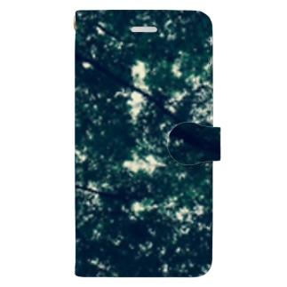 木陰で一休み Book-style smartphone case