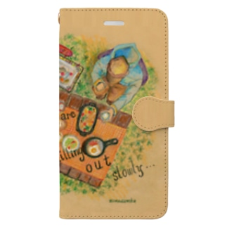 pf03-01: chilling out ウォレットスマホケース Book-style smartphone case