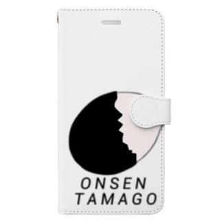 温泉卵 Book-style smartphone case