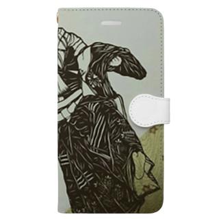 切り絵*操り三番叟 Book-style smartphone case