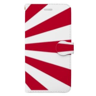 日本 旭日旗 日章旗 旗 国旗 赤 目立つ! Book-style smartphone case