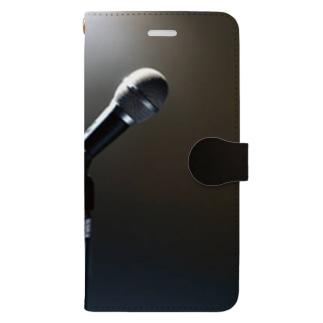 ボーカリスト ステージ マイク スポットライト Book-style smartphone case
