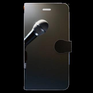 Teatime ティータイムのボーカリスト ステージ マイク スポットライト Book-style smartphone case