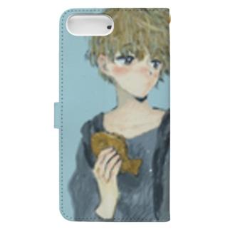 たいやき系男子  Book-style smartphone case