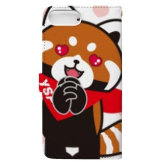 YSパンダ・ラブラブ Book style smartphone case