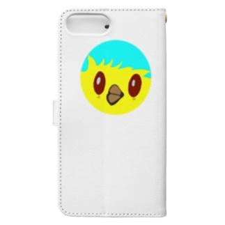 わちどりちゃんイエロー Book-style smartphone case