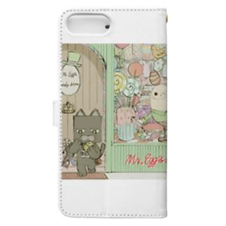お菓子たくさん Book-style smartphone case
