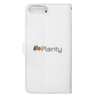 """Planty グッズ - 世界を向上させる大麻メディア """"プランティ""""のロゴTシャツ Book-style smartphone case"""