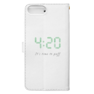 "Plantyの420 ""It's time to puff"" アイテム Book-style smartphone caseの裏面"