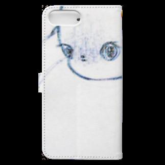 蛾亡奥のcat Book-style smartphone caseの裏面