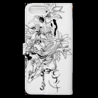 Chig-Hugのnagatsuki / hitotose Book-style smartphone caseの裏面