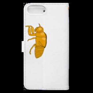 甘津 さえ(Amatsu Sae)のセミの抜け殻クン Book-style smartphone caseの裏面