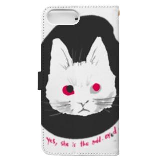 odd-eyed cat Book-style smartphone case