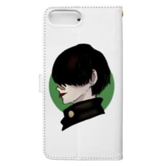 黒髪やんきーくん(仮) Book-style smartphone case