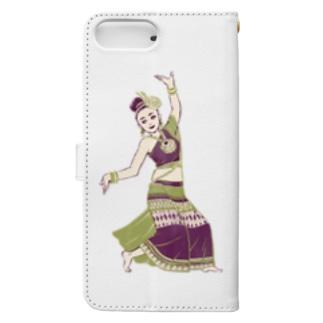 【タイの人々】伝統舞踊のダンサー Book-style smartphone case
