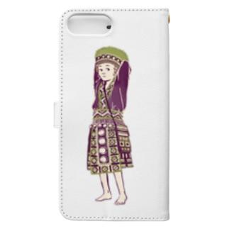 【タイの人々】モン族の女の子 Book-style smartphone case