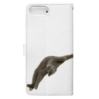 びよ〜ん猫 Book-style smartphone case