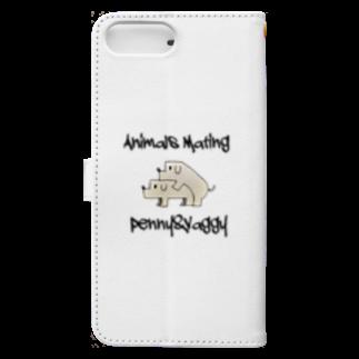 Animals MatingのDogs  Mating(犬の交尾) Book-style smartphone caseの裏面