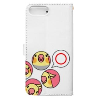 オカメインコまる〇【まめるりはことり】 Book-style smartphone case