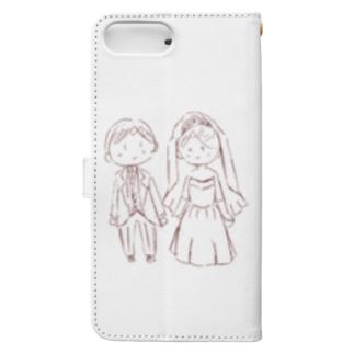 結婚式!ジューンブライド Book-style smartphone case