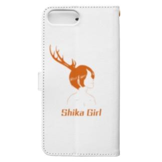 Studio Persimmonの鹿ガール Book-style smartphone caseの裏面