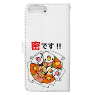 密です!コザクラインコさん【まめるりはことり】 Book-style smartphone case