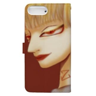 強い女性 Book-style smartphone case