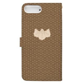 小文地桐紋付韋胴服柄 手帳型スマホケース Book-style smartphone case