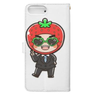 ふじわら園長先生 Book-style smartphone case
