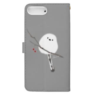 ふくふく シマエナガのiPhoneケース Book-style smartphone case