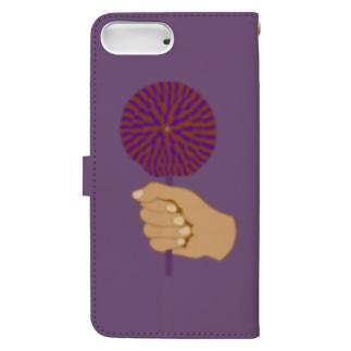 ハロウィンロリポップ Book-style smartphone case