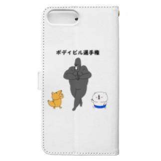 ボディビル選手権 Book-style smartphone case