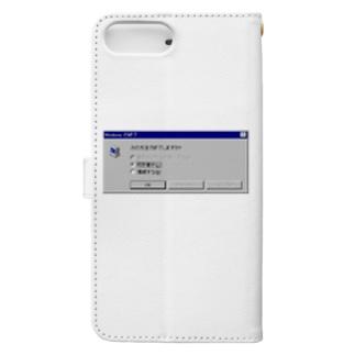 Windows エラーメッセージ Book-style smartphone case