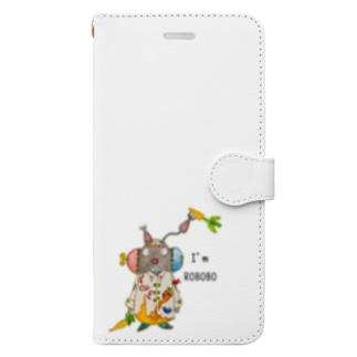 ROBOBO 「まーぶるロボ」ウサギ スチームパンク Book-style smartphone case