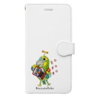 ROBOBO ボウシインコのボウ助  Book-style smartphone case