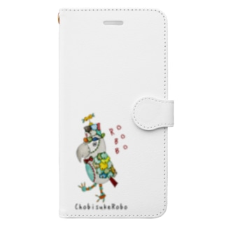 ROBOBO ヨウムのちょびすけロボ  Book-style smartphone case