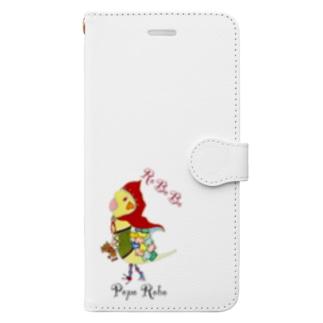 ROBOBO オカメインコ「ポポロボ」 Book-style smartphone case