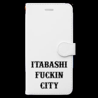 chillchillchillinのITBS fuckin city Book style smartphone case