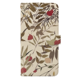 White Herbal case Book-style smartphone case