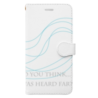 Do you think... voice of tide was heard far? Book-style smartphone case