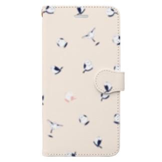 シマエナガ総柄 Book-style smartphone case