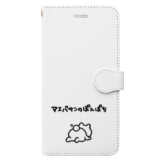 マエバサンのぽんぽち Book-style smartphone case
