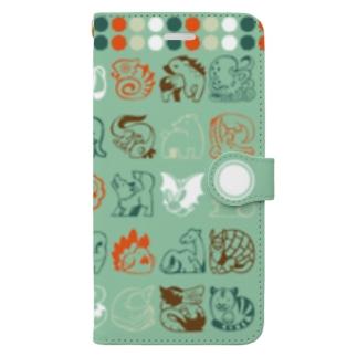 かわいいどうぶつ 手帳型スマートフォンケース