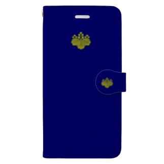 kamon 十大紋-桐紋 (五三桐) DBL (スマホケース・手帳型) Book-style smartphone case