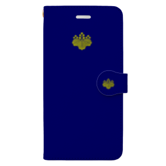 tomo-miseのkamon 十大紋-桐紋 (五三桐) DBL (スマホケース・手帳型) Book-style smartphone case