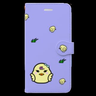 tomo-miseのひよこ ダルマ 2 (スマホケース・手帳型)  Book style smartphone case