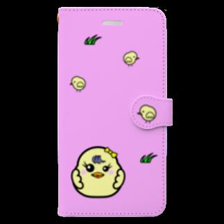 tomo-miseのひよこ ダルマ 3 (スマホケース・手帳型) Book style smartphone case