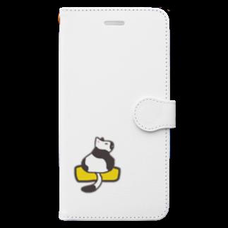 MickunRollの玉子焼きに乗ったネコ Book-style smartphone case