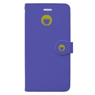 kamon 十大紋-藤紋(下り藤)BL2(スマホケース・手帳型) Book-style smartphone case